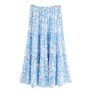 Blåblommig kjol