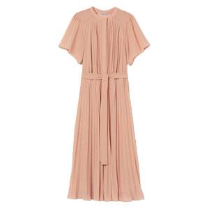 Plisserad rosa klänning
